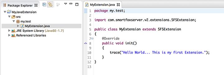 SmartFoxServer 2X documentation: writing-extensions